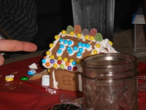 Go Blue! gingerbread house...not even mine!