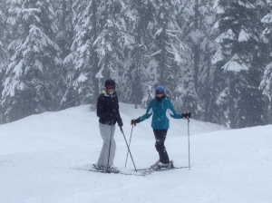 Ski bums and lots of snow at Stephen's Pass.