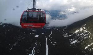 Awesome peak-to-peak gondola ride from Whistler to Blackcomb.