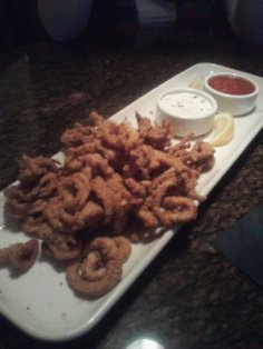 Calamari at BJ's Friday night.