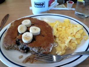 IHOP nummers.  Gotta love those granola and blueberry pancakes.