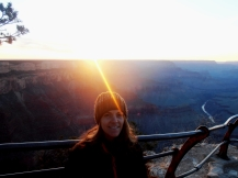Evening sunset at Hopi Point at the Canyon.