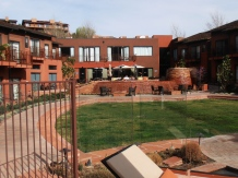 Amara Resort and Spa bar and courtyard in Sedona.