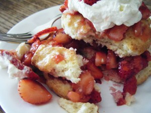 As did my homemade strawberry shortcakes.