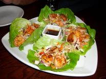 Thai shrimp lettuce wraps at BJ's Friday night.