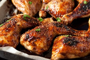Asian marinated drumsticks.