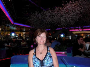 Mom at the Peppermill Restaurant.