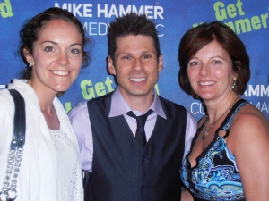 Mom and I with Mike Hammer.