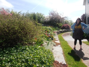 Her mom's gorgeous garden.