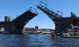 Raising of the bridge.