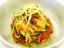 Kimchi ramen noodle salad promoting Tom Douglass' new Tanakasan restaurant about to open.
