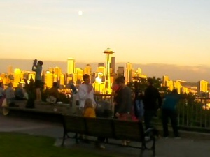 Kerry Park in all its sunny summer glory...perfect yoga spot for an evening class!!!