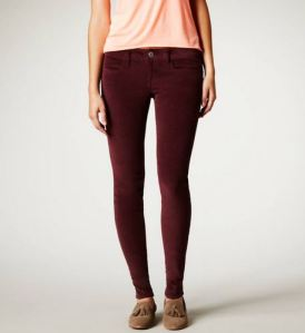 Purple corduroy jeggings for work and leisure and to have a new color to play with.