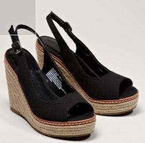 Black slingback wedges...we'll see if I like them.