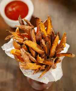 I could have eaten three of these rustic sweet potato fries alone.  So good @Sazerac.