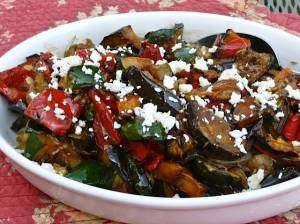 I ordered a bunch of small plates to suit my appetite.  This roasted eggplant salad with tomatoes, onions, and green peppers was doused in olive oil and was indescribably good!