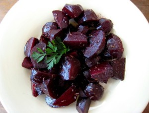 I love beets!  Bryan helped me finish this refreshing salad off, which had mint, red onions, and a great vinaigrette.