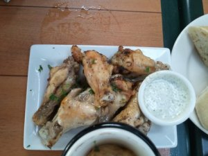 Chicken wings at Maximilien's