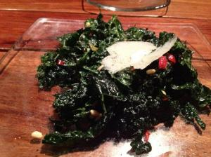 Serious Pie lacianato kale salad with pine nuts and parmesan