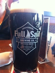 Slainte Stout on nitro at Full Sail.  Nice and dark!!