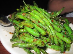 My favorite...Szechuan green beans at Wild Ginger