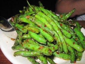 My favorite...Szechuan green beans at Wild Ginger