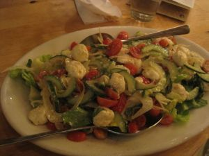 Awesomely huge salad for the two of us.