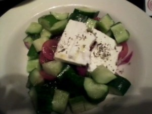Amazing simple Greek salad.