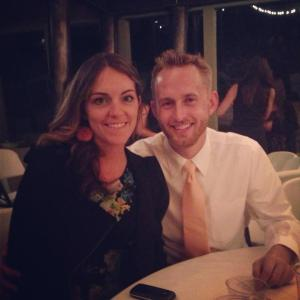 Bryan and I at the wedding reception.