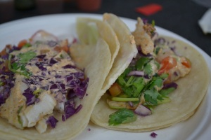 Always tasty Camion fish tacos.