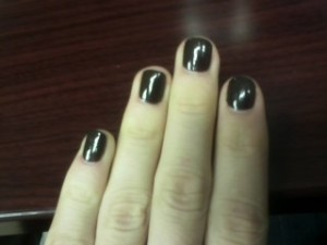 Beautiful chocolate brown nails.