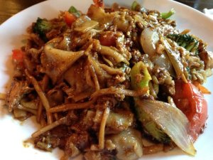 Our usual chicken Pad Kee Mao with two stars!