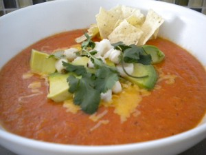 Yum tortilla soup homemade.