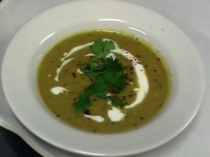 Smokey Eggplant and Lentil Soup with Coconut Yogurt