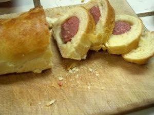 Sausage brioche.