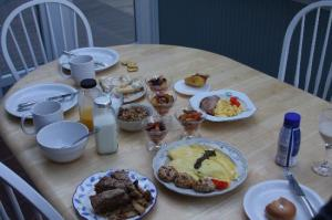 Our fantastic breakfast delivered to our nook.