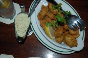 New favorite bar food?  Artichoke hearts with aioli for dipping.