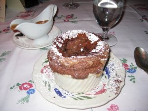 Chocolate souffle win.