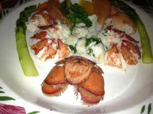 Bryan's poached lobster.