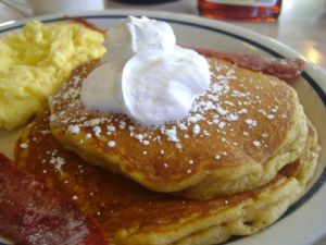 IHOP pumpkin pancakes...yum yum.