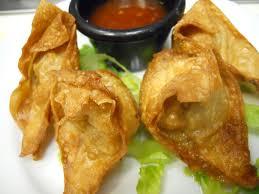 Crispy Vegetable Dumplings, Kimchi Puree, Bean Sprout Salad