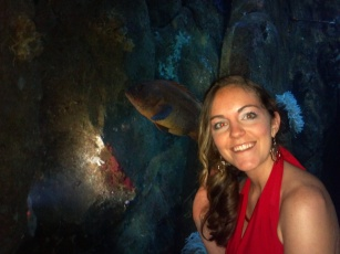 Glamorous at the Holiday Party...we liked this fish!