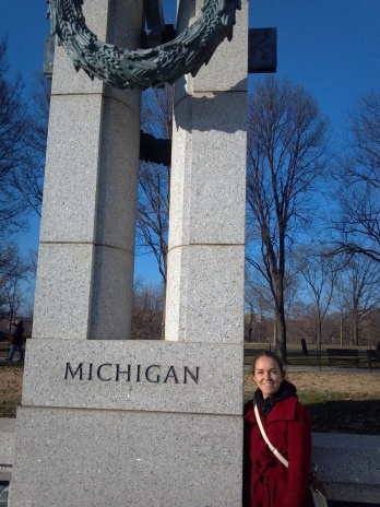 Michigan at the Lincoln Memorial.