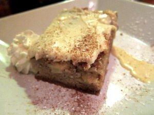 Wood Roasted Apple Cake with Chantilly Cream & Coffee Salt Caramel