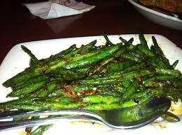 The best spicy green beans.
