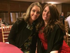Polly and I at the wedding dinner.