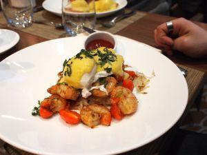 Cajun prawn hash = richness X1000 at our hotel bar and restaurant