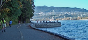 Walking around Stanley Park on a surprisingly sunny and warm (57 degrees) Sunday afternoon.
