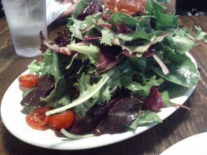 My salad was huge