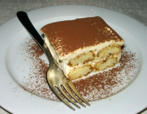 And topped it off with a slice of heavenly tiramisu...since we weren't drinking and walked home.